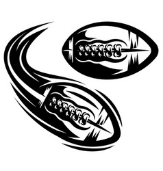 Set two templates for american football flying vector