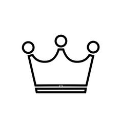 Simple crown line icon isolated on white vector