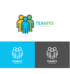 simple teamwork group three people human vector image
