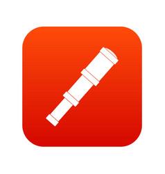 spyglass icon digital red vector image