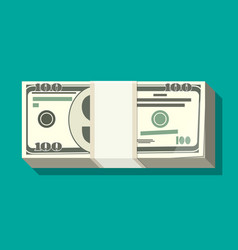 Stack of dollar banknotes vector
