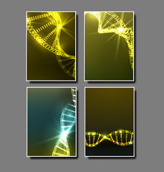 strand spiral of dna molecule set banner vector image