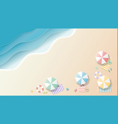 summer background paper art style vector image