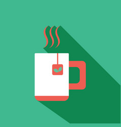Team and coffee cup icon flat vector