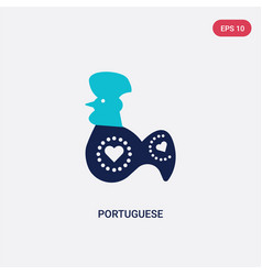 Two color portuguese icon from cultures concept vector