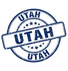 Utah blue grunge round vintage rubber stamp vector