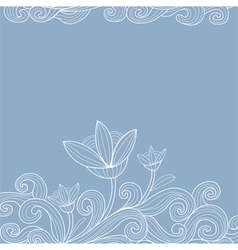 Vintage style background with flowers vector image