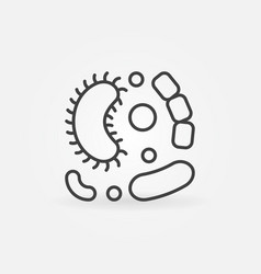 viruses simple line icon vector image