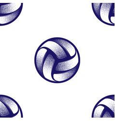 Volleyball halftone symbol vector