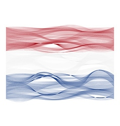 Wave line flag of the Netherlands vector