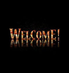 Welcome text lettering vector
