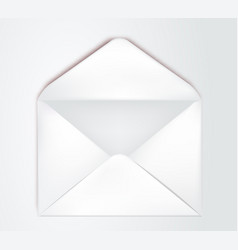 white envelope template opened envelope vector image