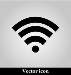 Wi fi icon on grey background vector image