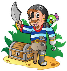 young cartoon pirate 2 vector image