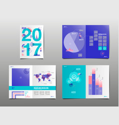 annual report 2017 template layout design cover vector image