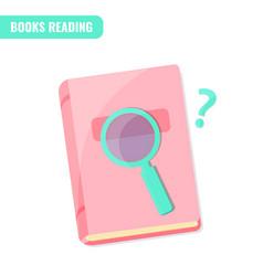 Books reading books research concept vector