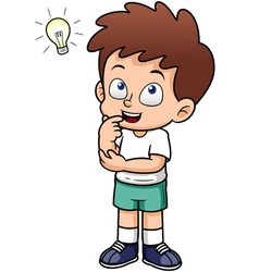 Boy with idea vector image