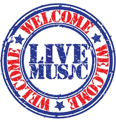 Live Music stamp vector image vector image