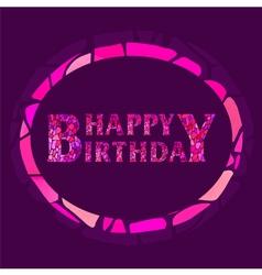 Mosaic happy birthday greeting card vector