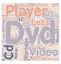 New And Old DVD Players text background wordcloud vector image vector image