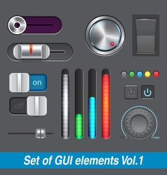 Set of GUI elements vector image vector image