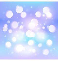 Blue abstract shining light bokeh effect vector image