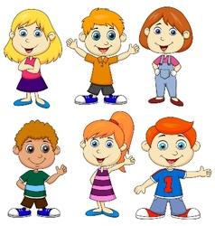 Boy and girl cartoon vector image vector image