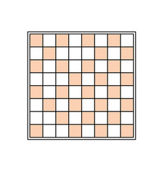 Chess game field vector
