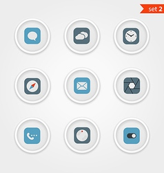 Color interface icons collection vector image vector image