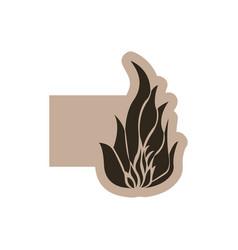 contour emblem fire icon vector image