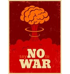 no war red vector image vector image