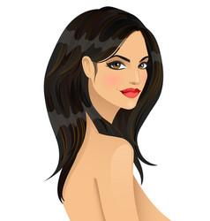 portrait of beautiful fashionable girl vector image