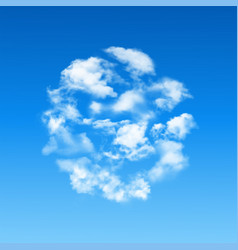 round shape made of clouds vector image vector image