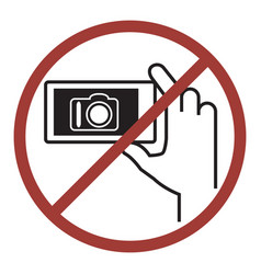 sign of do not photography vector image vector image