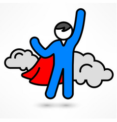 superhero icon vector image vector image
