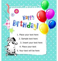 Baby Happy birthday card blue vector image vector image