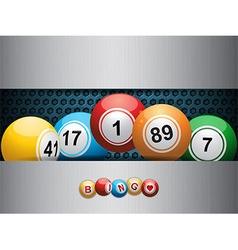 bingo balls ovea blue metallic plate vector image