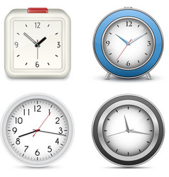 Collection of clocks and alarms vector image