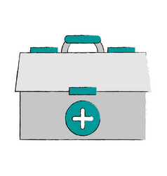 first aids suitcase vector image vector image