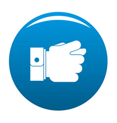 Hand greed icon blue vector