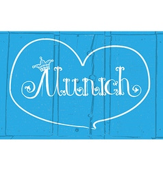 Munich logotype vector image