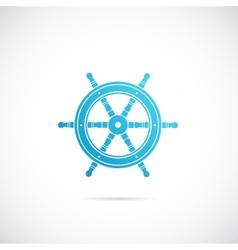 Steering Wheel Symbol Icon or Label vector image vector image