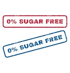 0 Percent Sugar Free Rubber Stamps vector