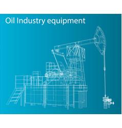 3d oil pump vector image