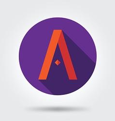 A orange on puple circle logo icon vector