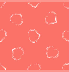 abstract seamless background with hearts in vector image