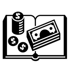 accounting book icon simple style vector image