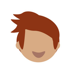 adult male head young vector image