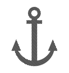 Anchor sign on white vector