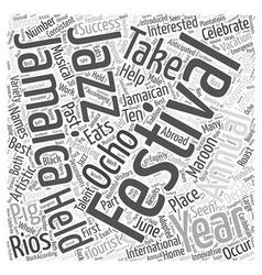 Annual festivals in Jamaica Word Cloud Concept vector image